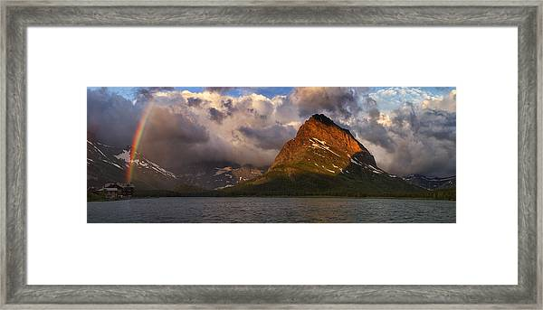 Rainbow At Sunrise - Panorama Framed Print
