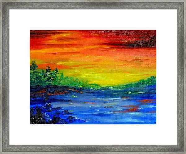 Rainbow Back Waters Framed Print