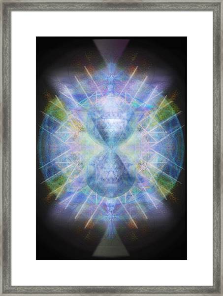 Rainbow Chalice Cell Isphere Matrix Framed Print by Christopher Pringer