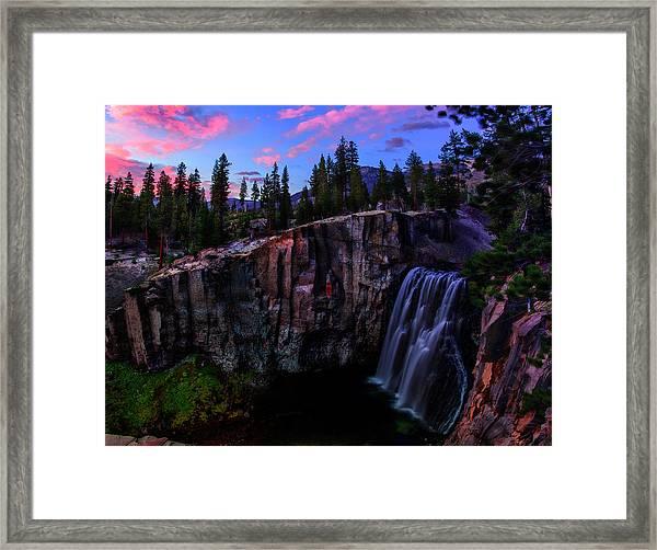 Rainbow Falls Devil's Postpile National Monument Framed Print