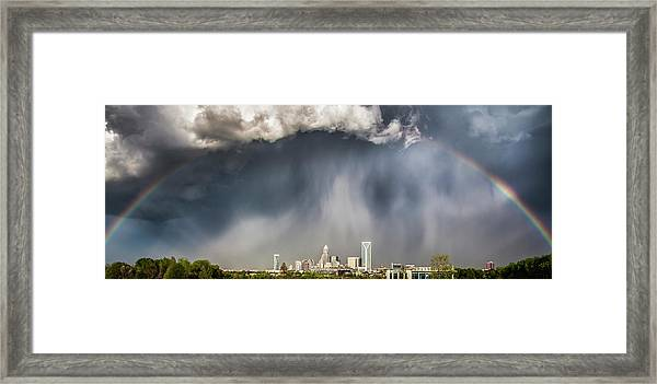 Rainbow Over Charlotte Framed Print
