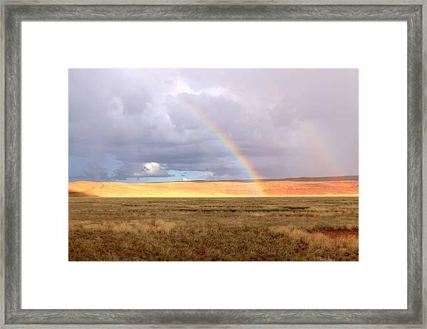 Rainbow Over Sossulvei Framed Print