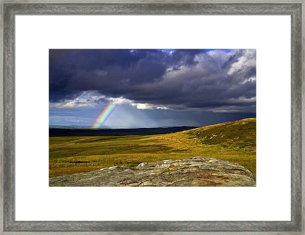 Rainbow Over Yorkshire Moors - Tann Hill Framed Print