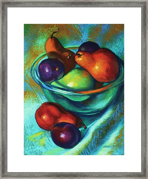 Rainbow Pears Framed Print