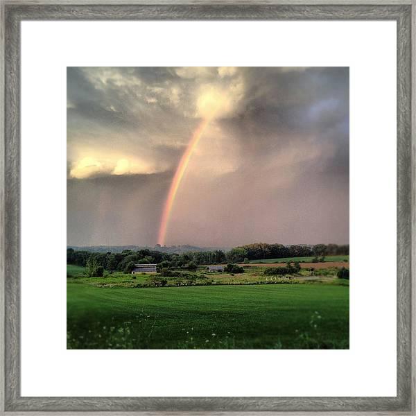 Rainbow Poured Down Framed Print
