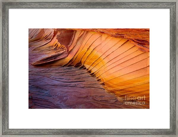 Rainbow Rocks Detail Framed Print