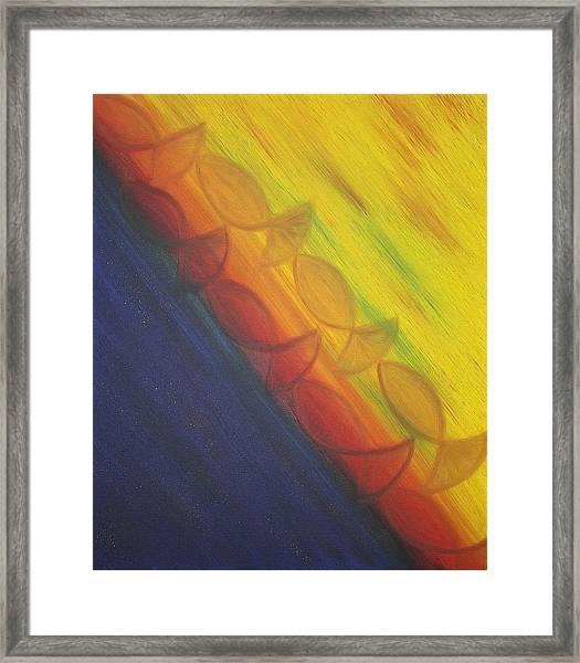 Rainbow Run Framed Print