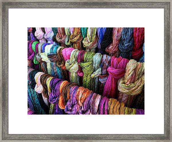 Rainbow Scarfs  Framed Print