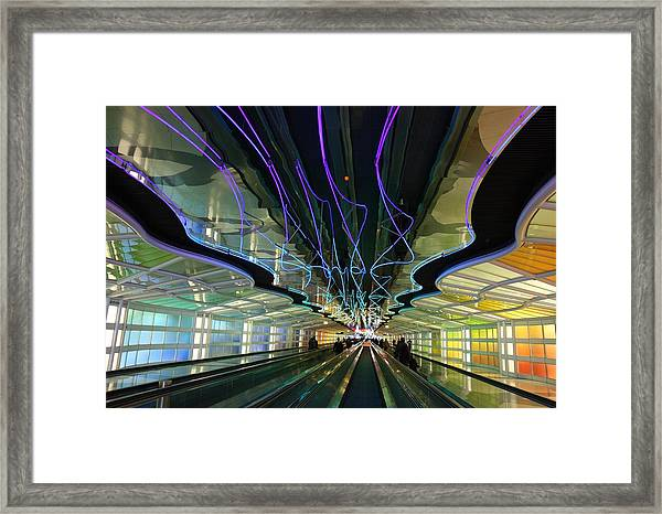 Rainbow Strike Framed Print