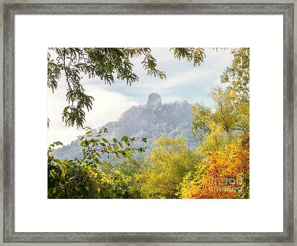 Framed Print featuring the photograph Rainbow Sugarloaf Landscape by Kari Yearous
