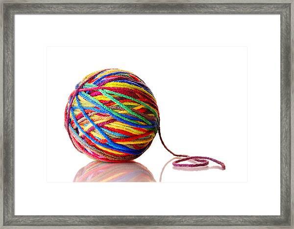 Rainbow Yarn Framed Print
