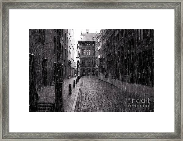 Raining In Amsterdam Framed Print