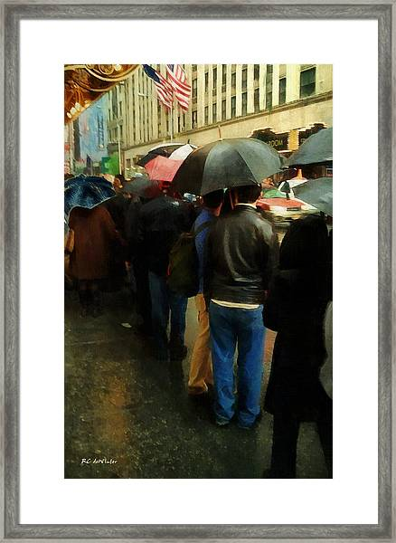 Rainy Afternoon On Broadway Framed Print