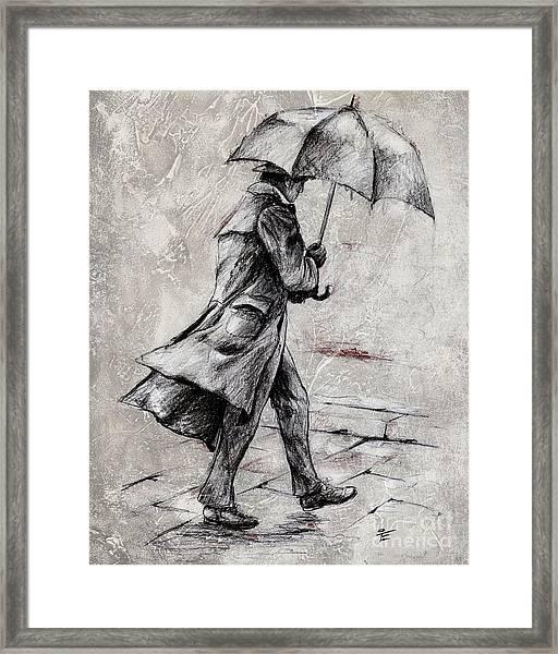 Rainy Day #07 Drawing Framed Print