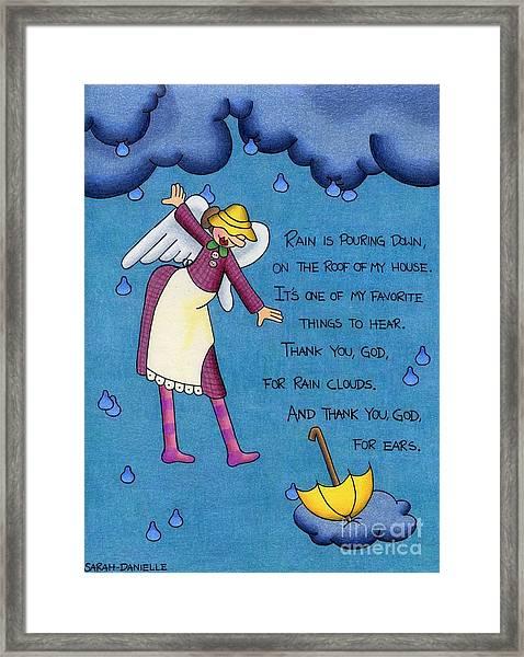 Rainy Day Angel Framed Print