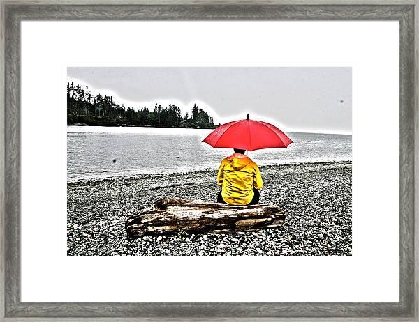 Rainy Day Meditation Framed Print