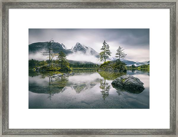 Rainy Morning At Hintersee (bavaria) Framed Print by Dirk Wiemer