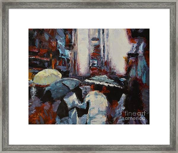 Rainy New York Framed Print