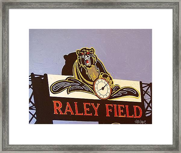 Raley Field Framed Print by Paul Guyer