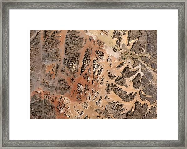 Ram Desert Transjordanian Plateau Jordan Framed Print