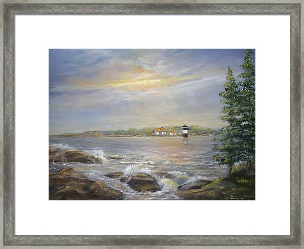 Ram Island Lighthouse Main Framed Print