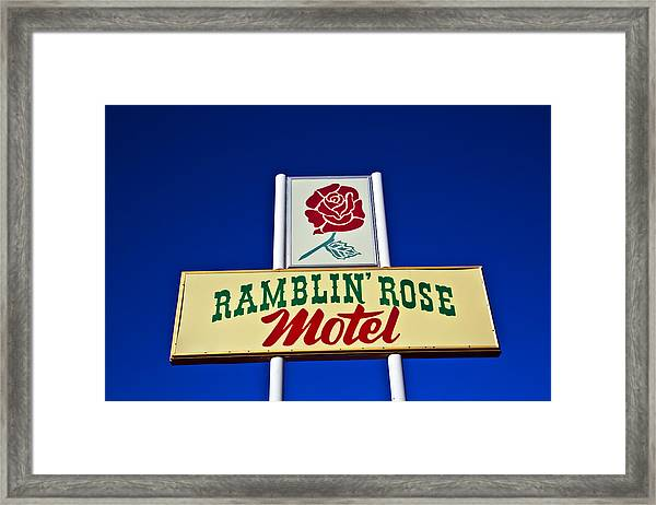 Ramblin' Rose Motel Framed Print