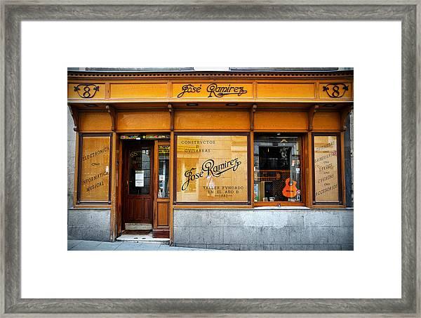 Ramirez Guitars Workshop Framed Print
