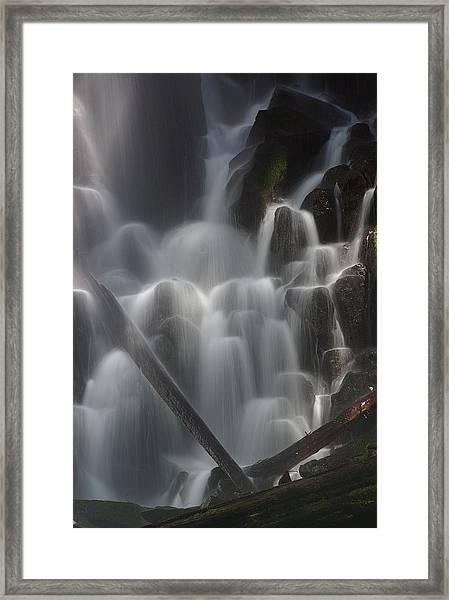 Ramona Falls Detail 2 Framed Print