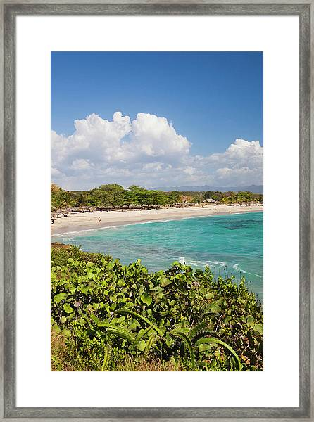 Rancho Luna Beach In Morning Framed Print