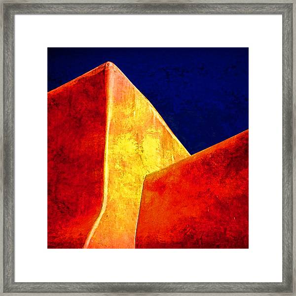 Ranchos In Orange And Yellow Framed Print