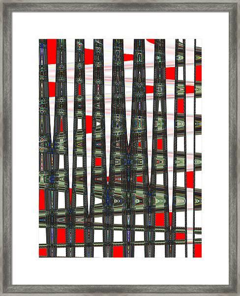Random Red Framed Print