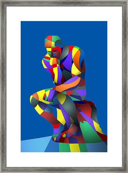 Randy's Rodin Blue Framed Print
