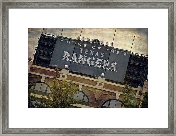 Rangers Ballpark In Arlington Color Framed Print