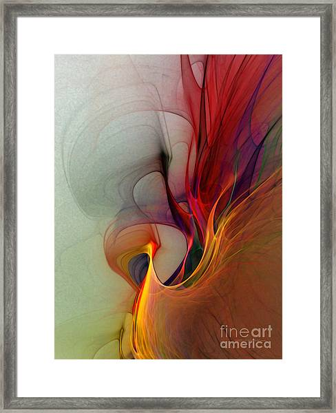 Rapture Of The Deep-abstract Art Framed Print