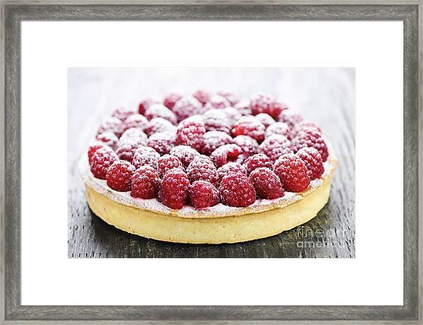 Raspberry Tart Framed Print