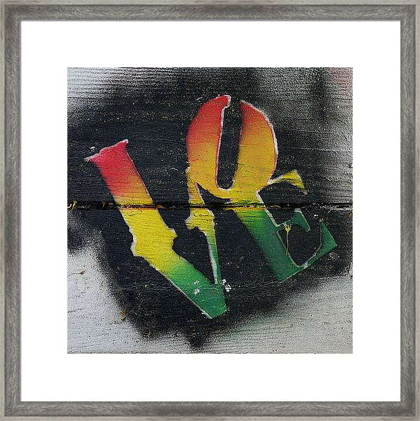 Rasta Love Framed Print