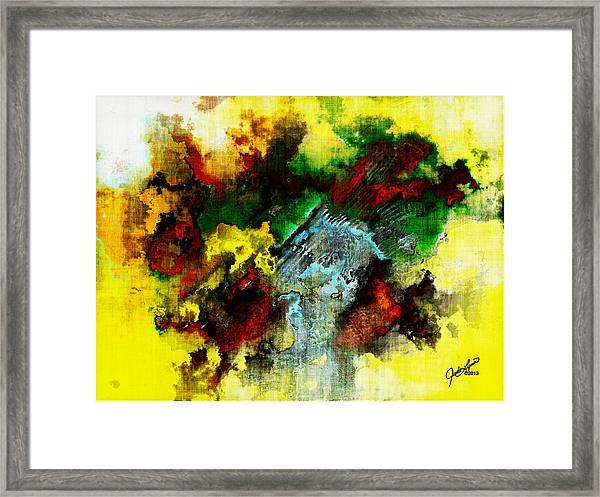Rasta Rain Framed Print