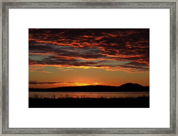 Framed Print featuring the photograph Rathtrevor Sunrise by Randy Hall