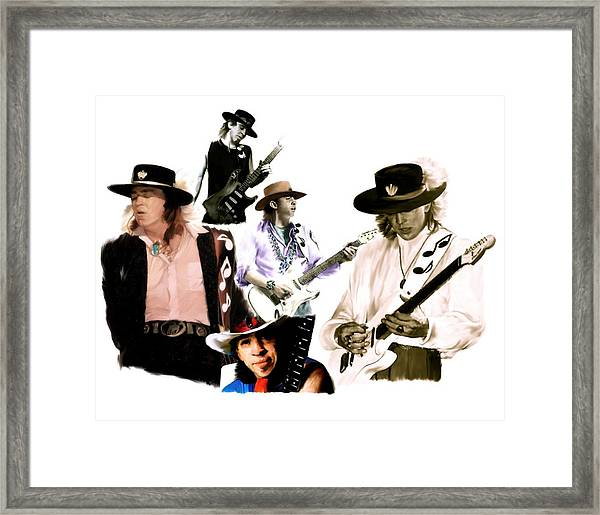 Rave On  Stevie Ray Vaughan Framed Print