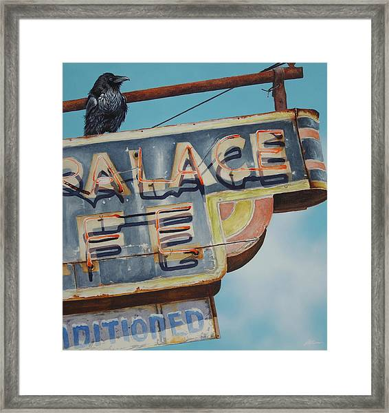 Raven And Palace Framed Print