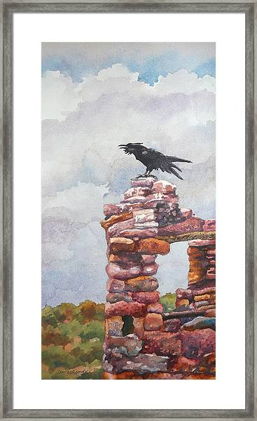 Raven At Hovenweep Framed Print