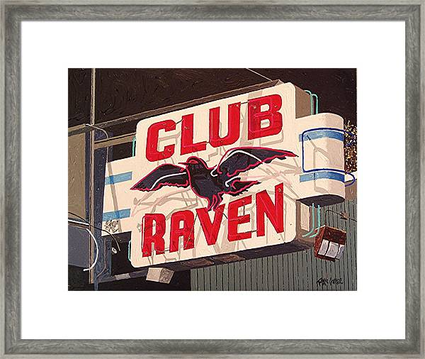 Raven Club Framed Print by Paul Guyer