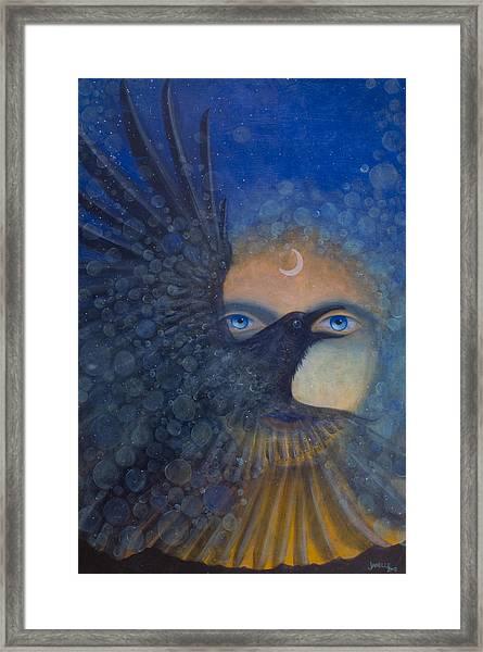 Raven Heart Framed Print