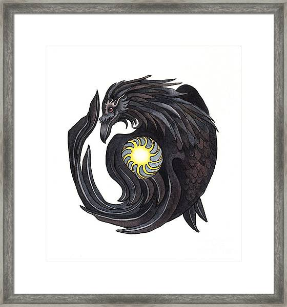 Raven Steals The Sun Framed Print