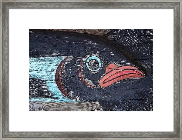 Raven Totem Figure Framed Print