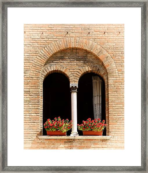 Ravenna Window Framed Print