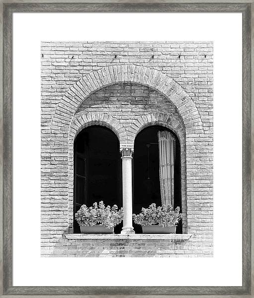 Ravenna Window Mono Framed Print