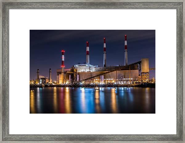 Ravenswood Generating Station Framed Print
