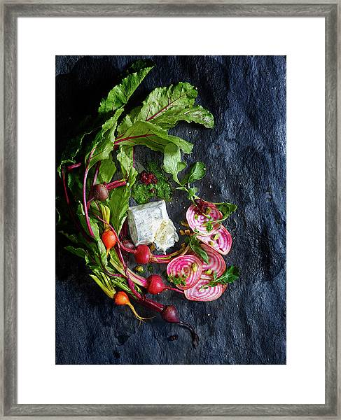 Raw Beeet Salad Ingredients Framed Print