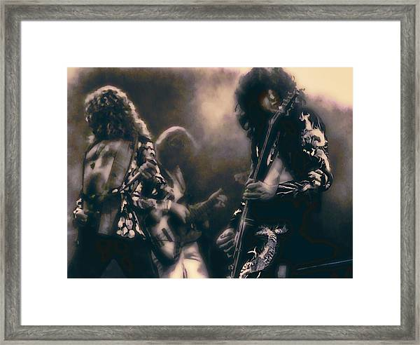 Raw Energy Of Led Zeppelin Framed Print